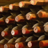 Rotweinflaschenlager, Bodegas Murua, Rioja, Spanien