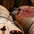 Fassprobe mit Weinpipette, Bodegas Murua, Rioja