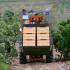 Traktor bei der Weinernte in Briones, La Rioja